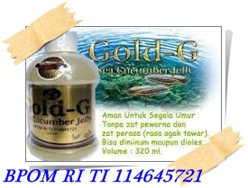 Jelly Gamat Gold-G sebagai Obat Ginjal Bocor alami herbal nan tradisional